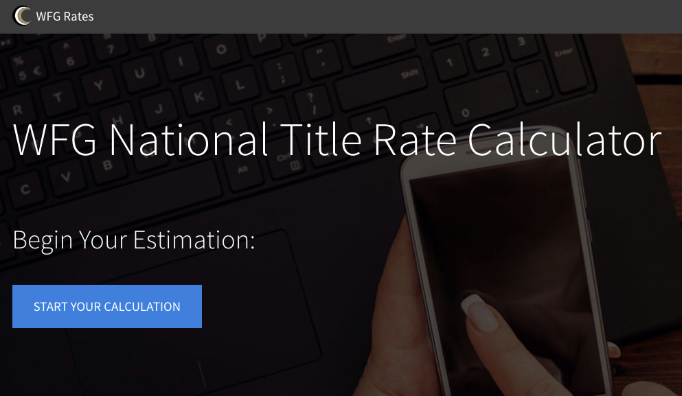 WFG Rates - Rate Calculator